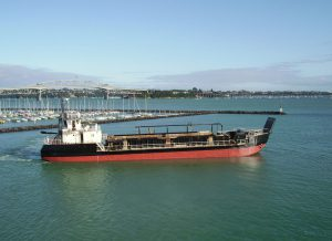 Coastal Carrier motorised barge with roll on roll off capabilities
